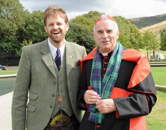 Mr Newsome with Cardinal O'Brien