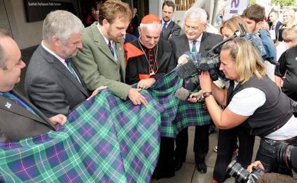 Tartan Papst Benedikt wird der Presse vorgestellt