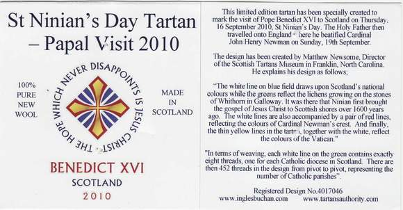Label St. Ninian's Day Tartan