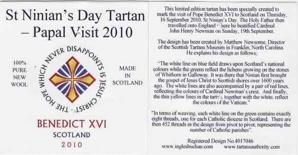 Etikett St. Ninian's Day Tartan